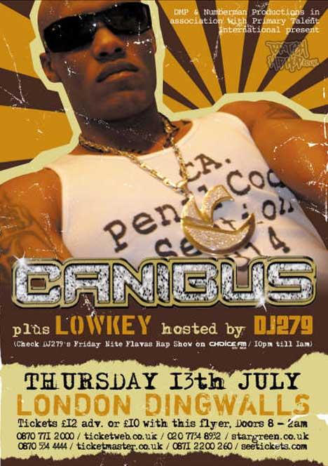 Canibus Live At Dingwalls